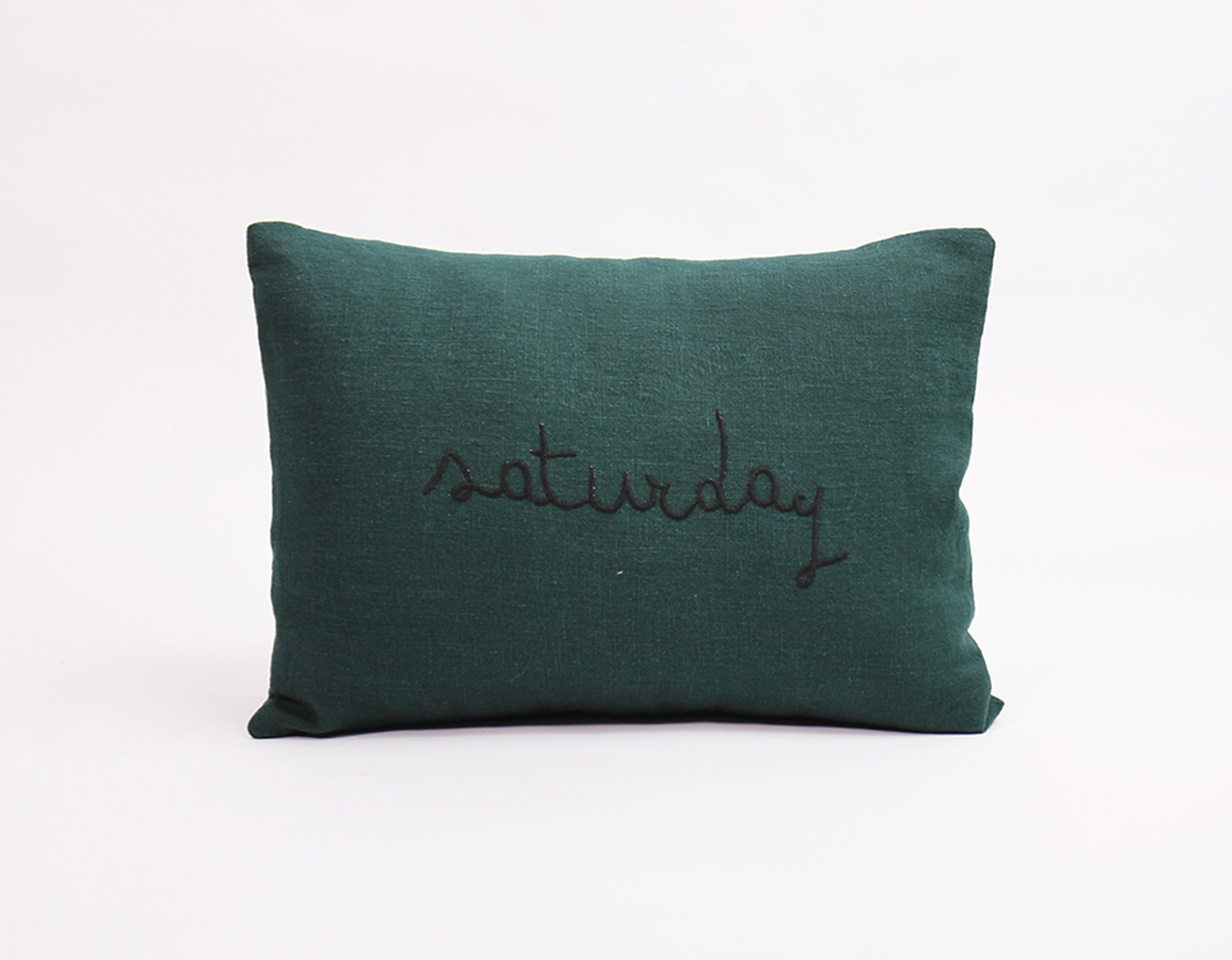 WEEKEND CUSHION-DEEP GREEN