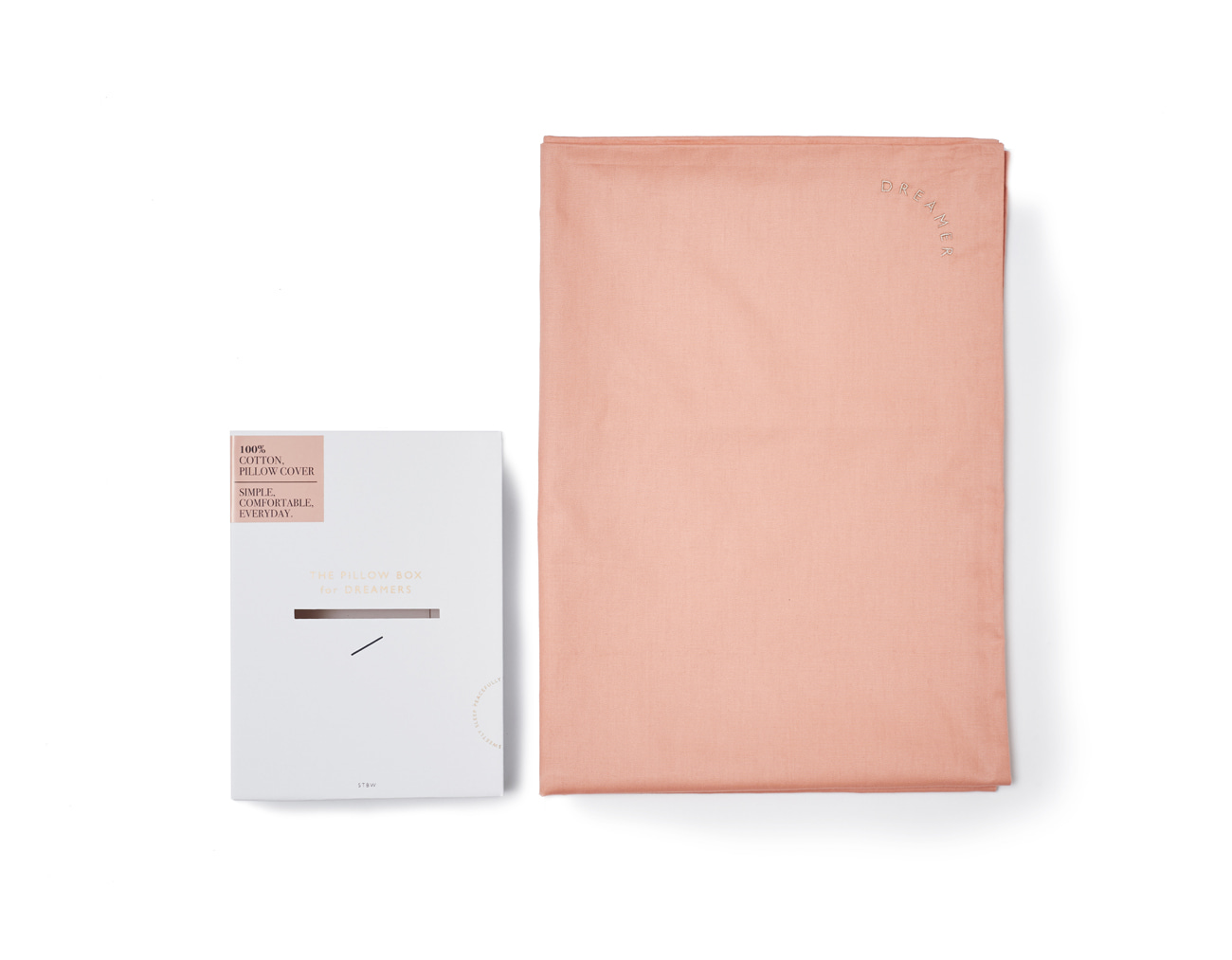 DREAMER PILLOW CASE - CORAL COTTON