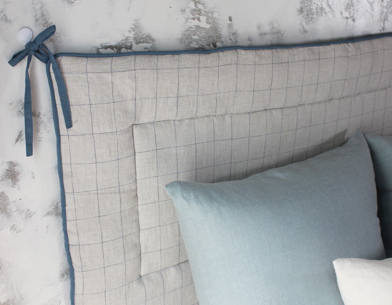 LINEN CHECK HEAD BOARD_BLUE