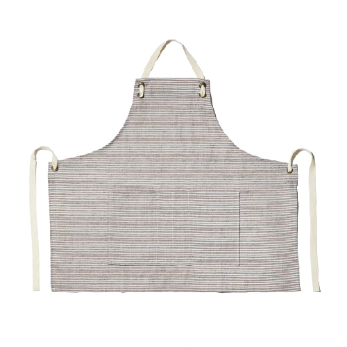 STRIPE APRON-BROWN