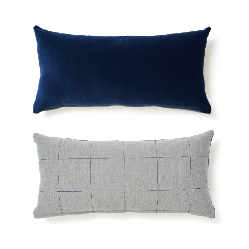 VELVET STITCH CUSHION_NAVY