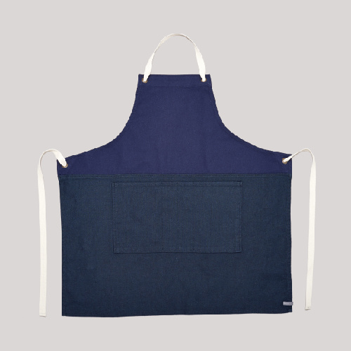 COLOR BLOCK APRON_NAVY/NAVY