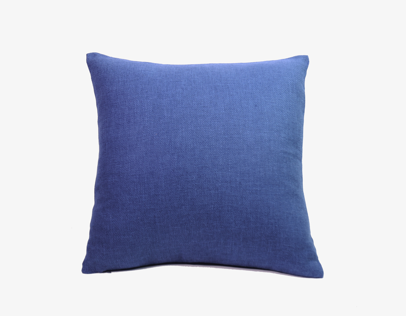 LINEN CUSHION-BLUE