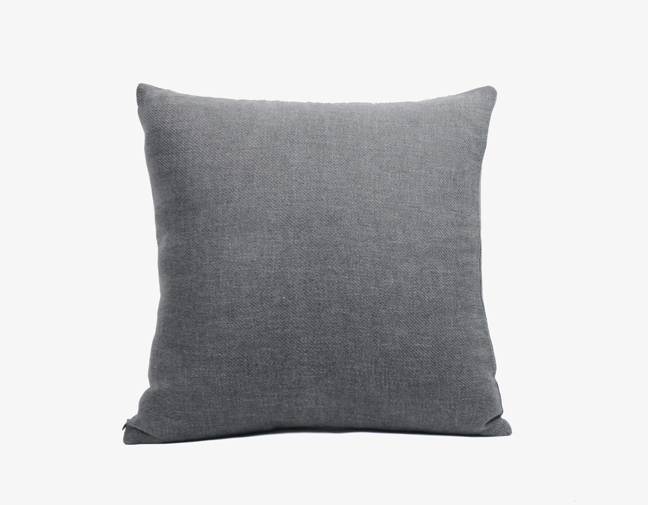 LINEN CUSHION-GRAY