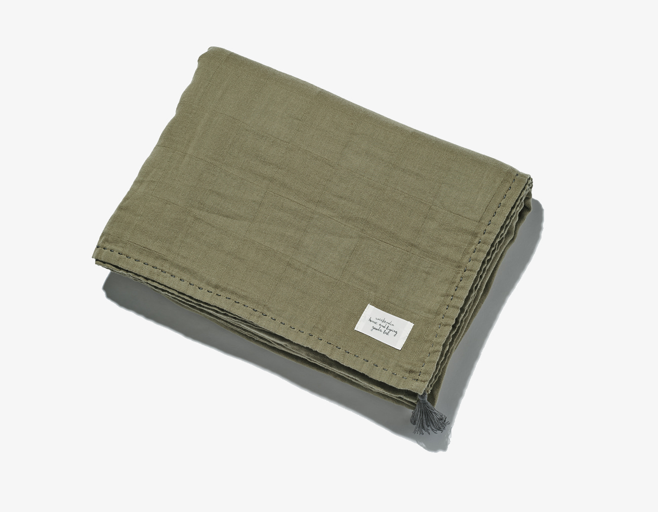 COTTON GAUZE BLANKET-KHAKI