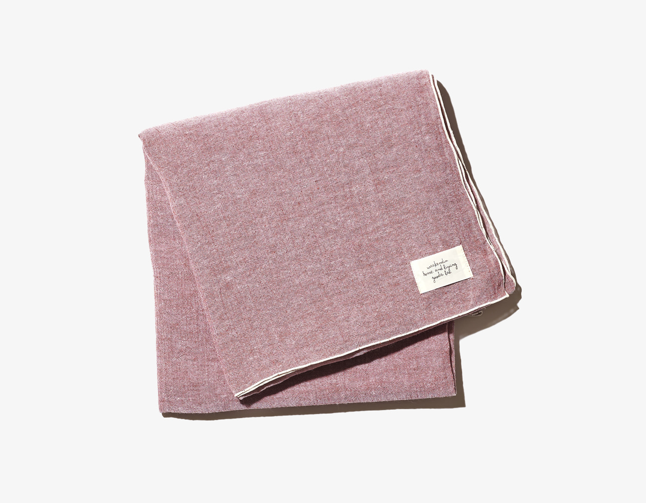 COTTON LINEN BLANKET-RED
