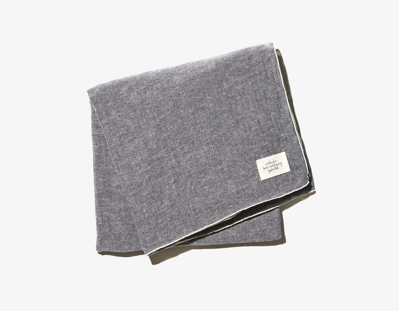 COTTON LINEN BLANKET-BLACK