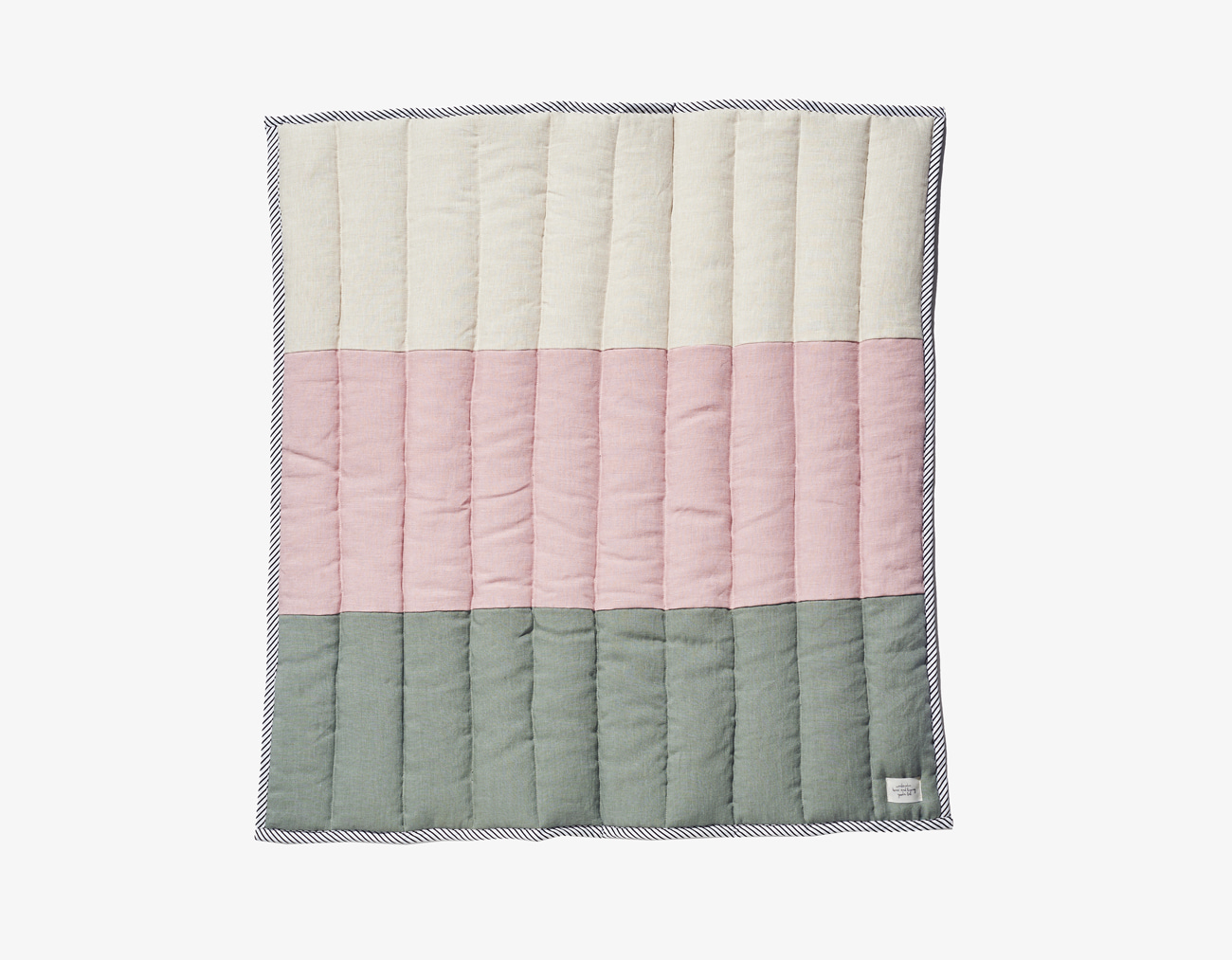 KIDS STRIPE BLANKET_PINK/MINT