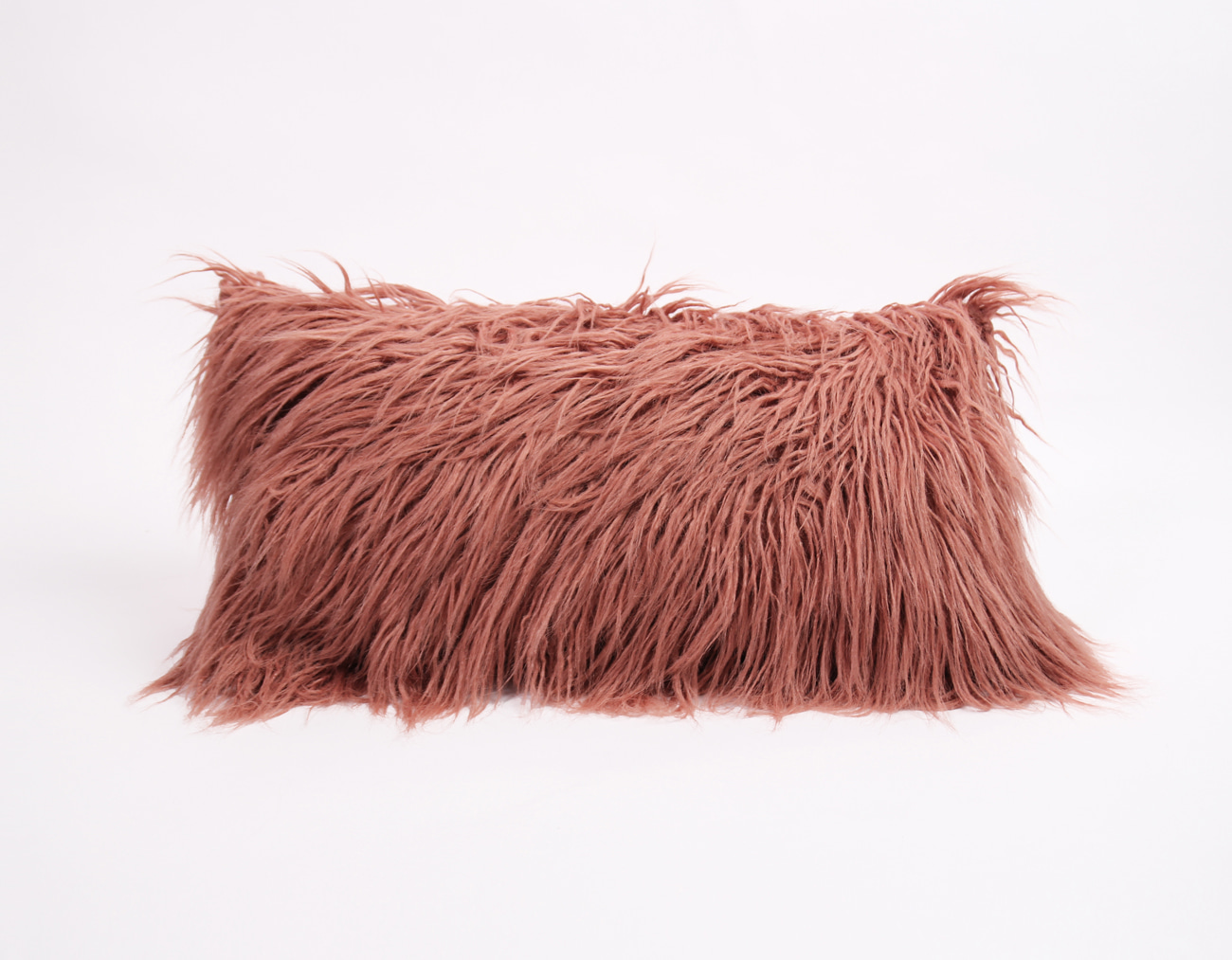 MONGOLIAN FUR CUSHION - PINK