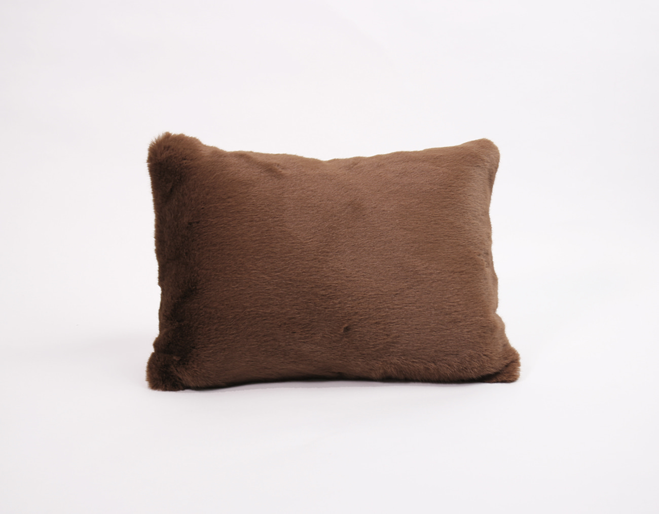 FAUX FUR CUSHION - BROWN