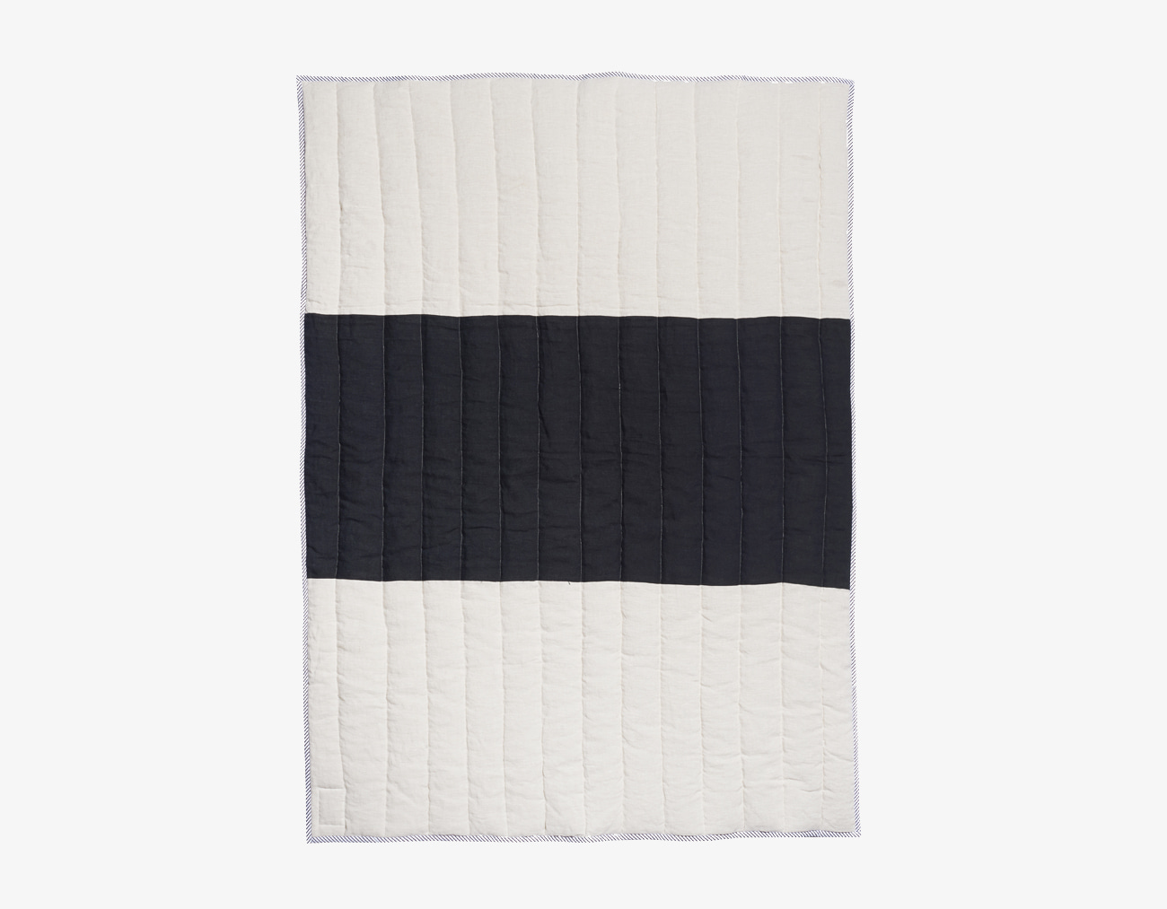 LINEN STRIPE BLANKET-BLACK