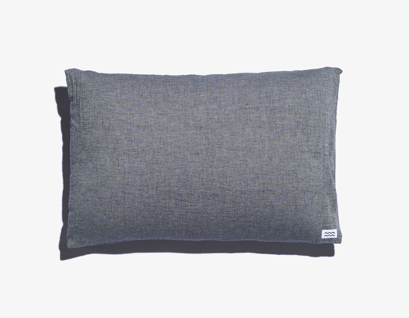 DOUBLE COTTON PILLOW COVER-GRAY