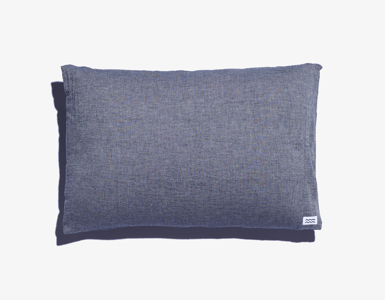DOUBLE COTTON PILLOW COVER-BLUE