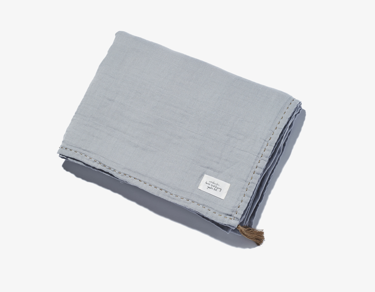 COTTON GAUZE BLANKET-GRAY