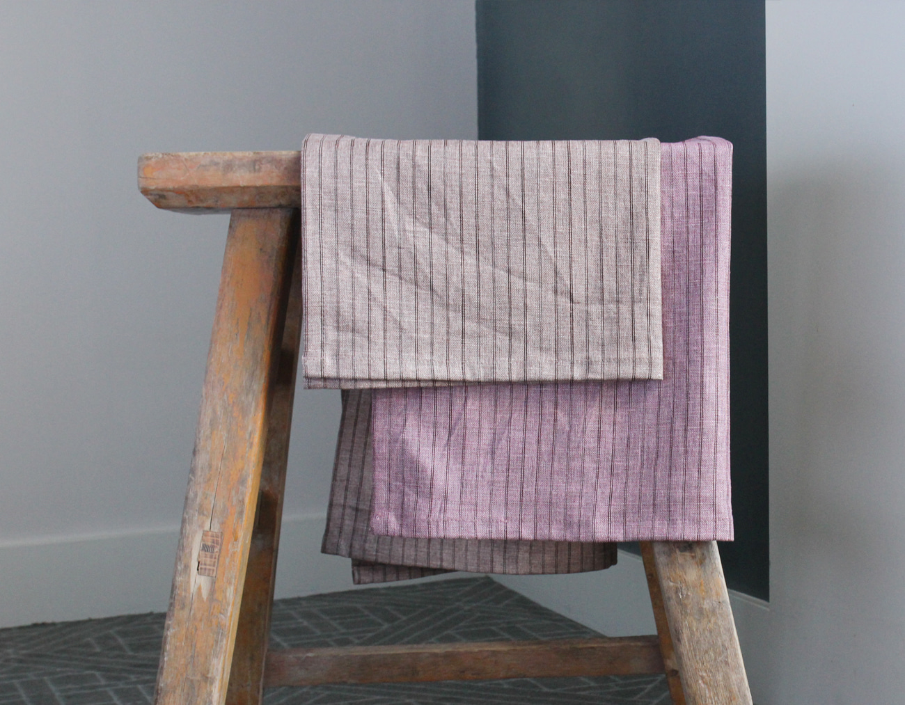 STRIPE PLACEMAT SET _PINK
