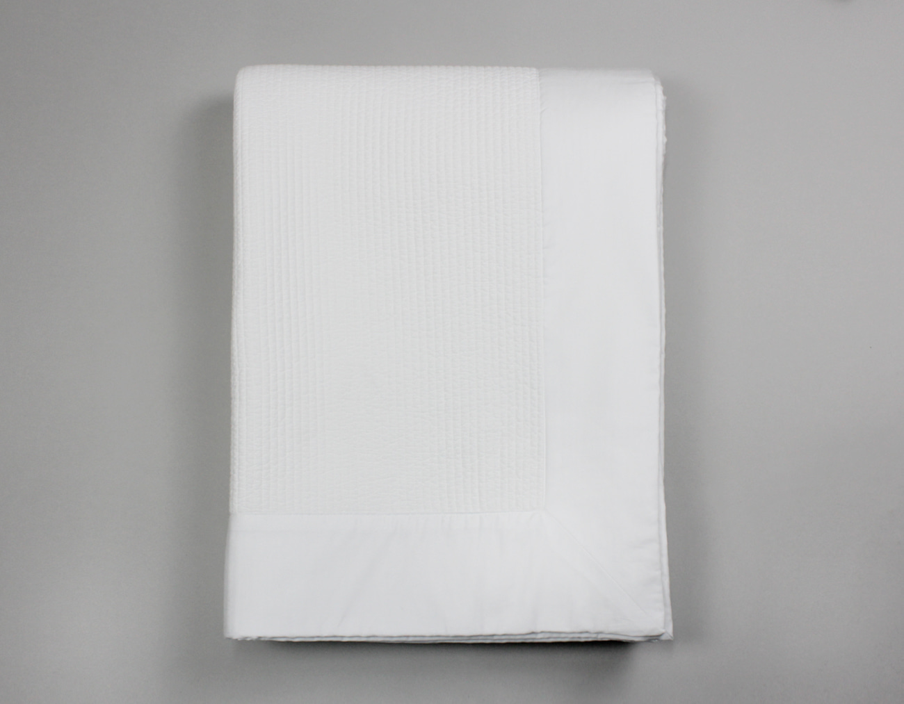 COTTON QUILTING MATTRESS PAD - WHITE