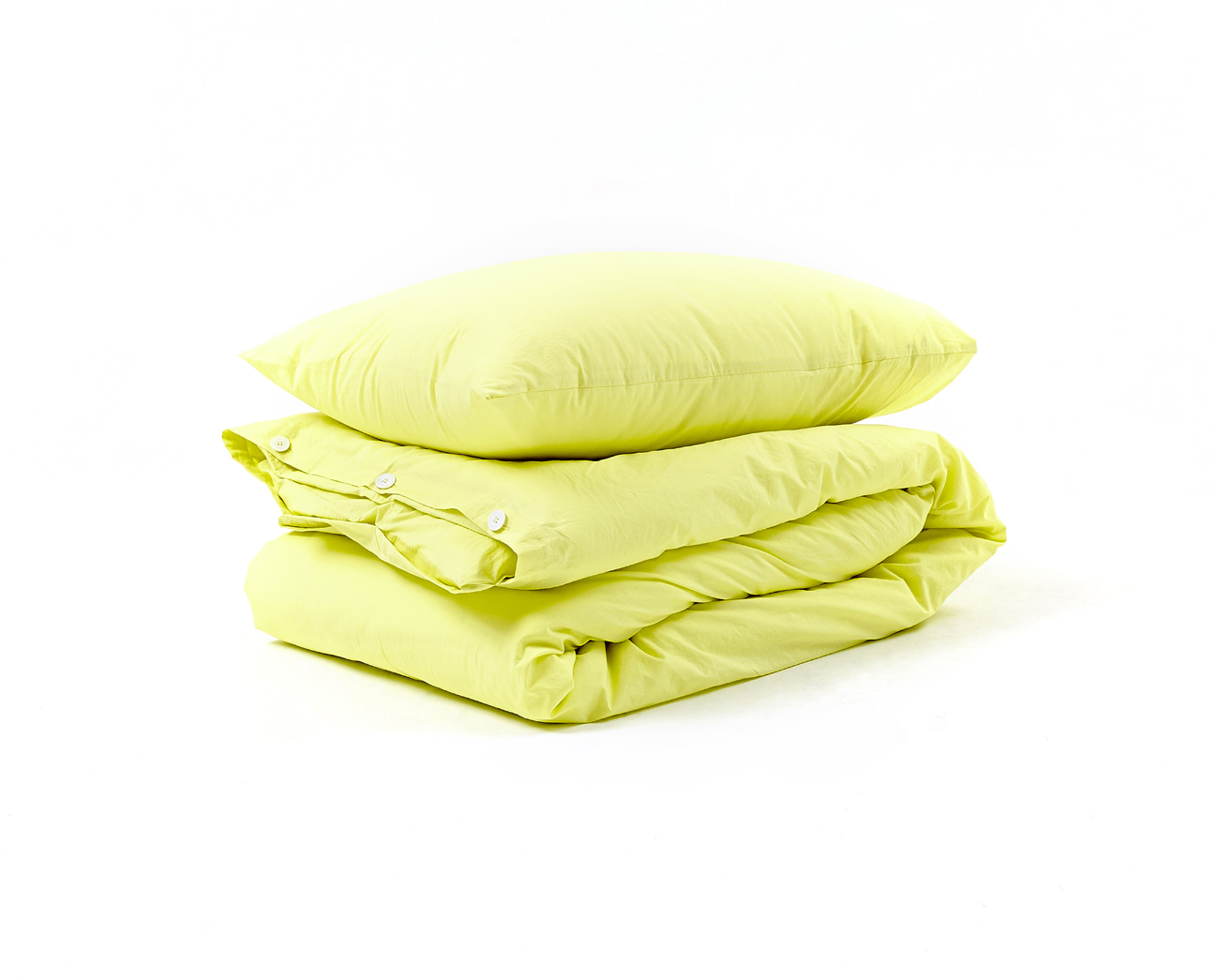 LEMON YELLOW - COTTON COVER SET