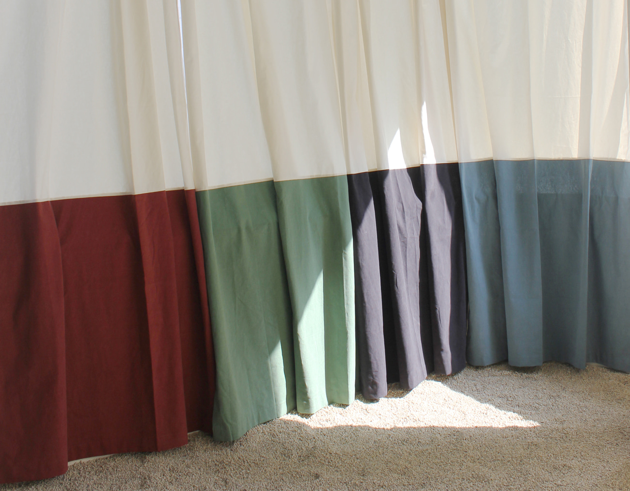 COLOR BLOCK CURTAIN [6COLORS]