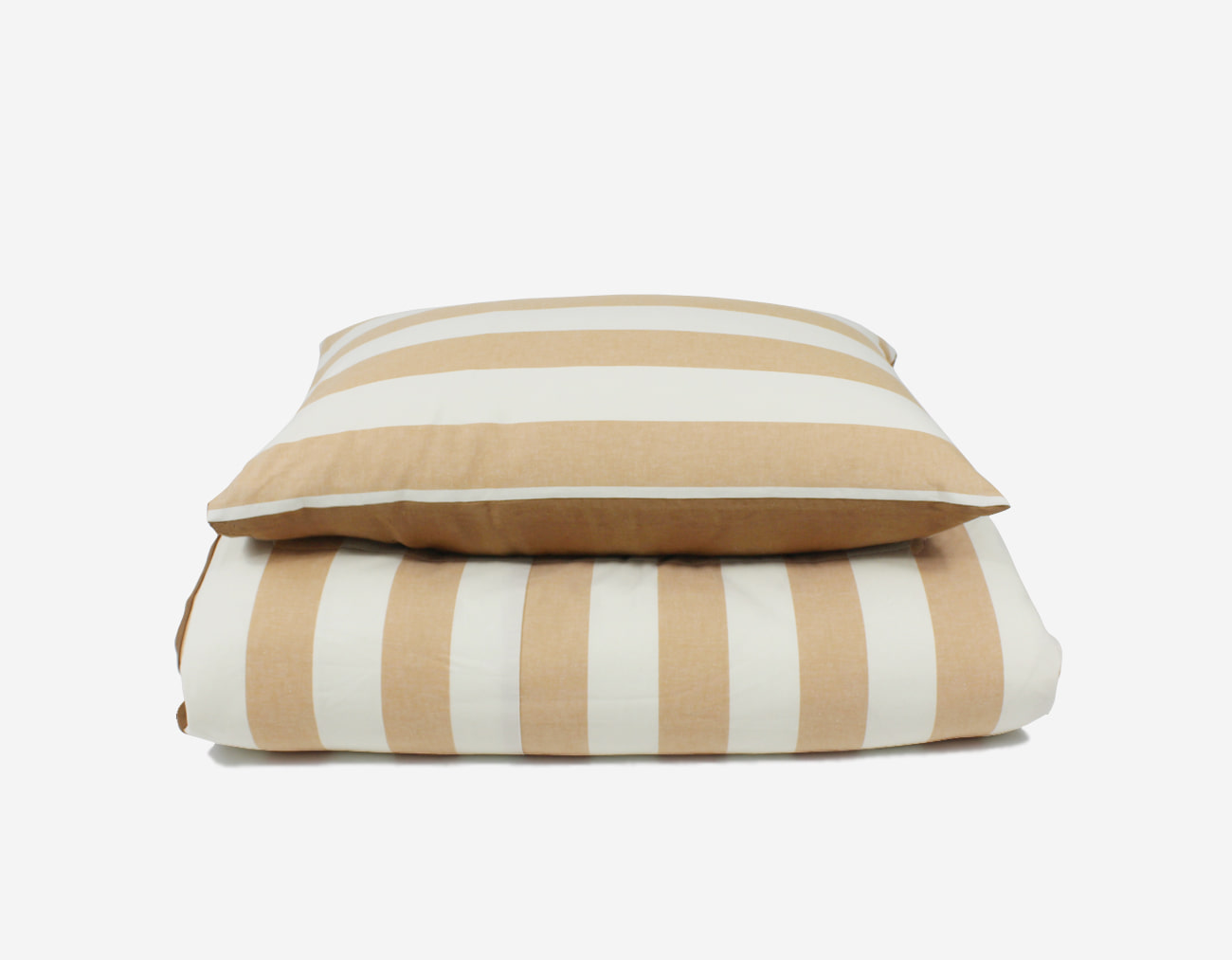 PLAT STRIPE COVER SET - PEACH