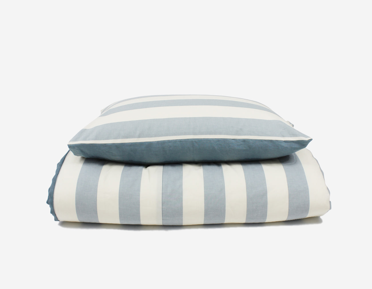 PLAT STRIPE COVER SET - LIGHT BLUE