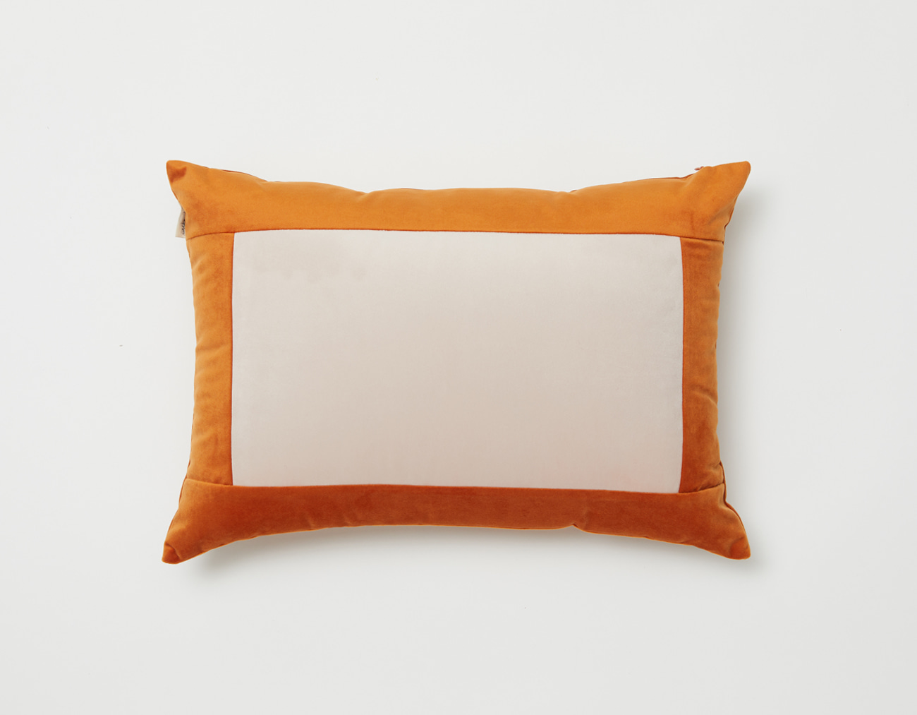 SQUARE VELVET CUSHION_ORANGE/PINK