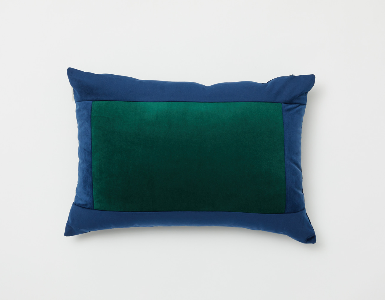 SQUARE VELVET CUSHION_NAVY/GREEN